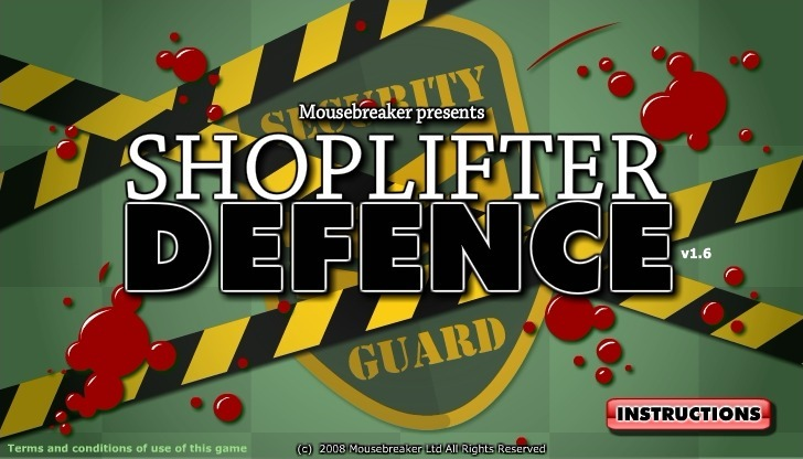 Play Shoplifter Defence Game Full Screen
