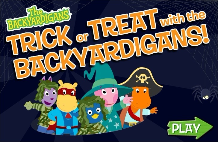 Play The Backyardigans: Trick or Treat with Backyadigans Game Full Screen