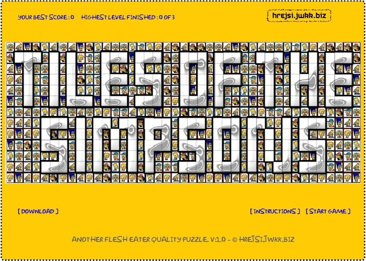Play Tiles of The Simpsons Game Full Screen