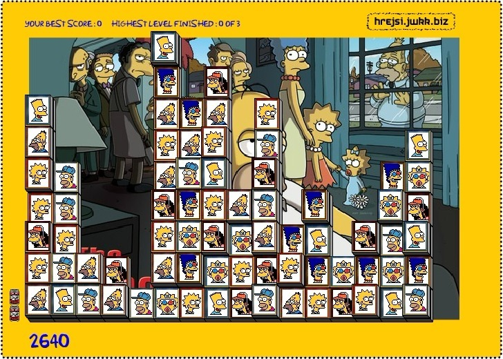 Tiles of The Simpsons Full Screen