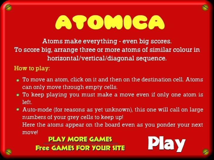 Play Atomica Game Full Screen