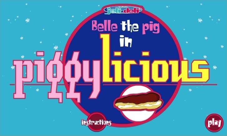 Play Belle the Pig in Piggylicious Game Full Screen