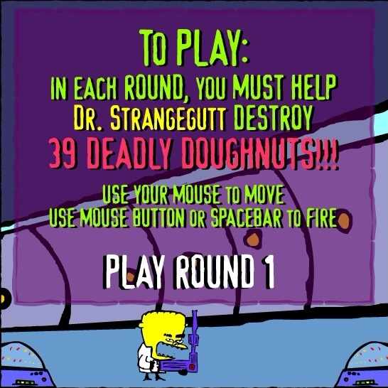 Play Dr. Strangegutt the Deadly Doughnuts Game Full Screen