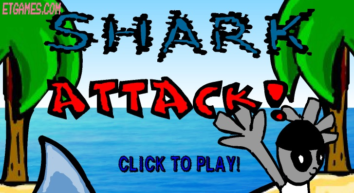 Play Shark Attack Game Game Full Screen