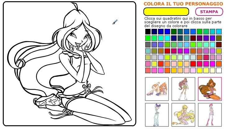 Play WinX Coloring Book