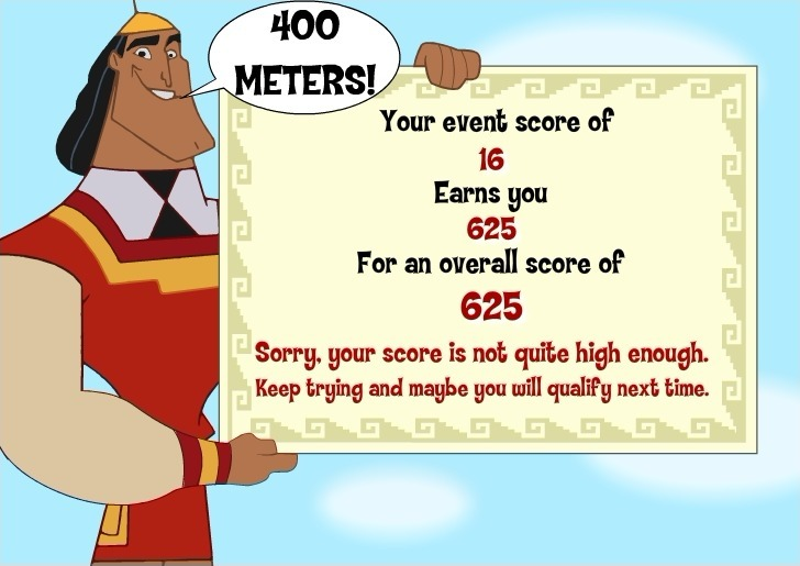 Kuzco Quest for Gold Full Screen