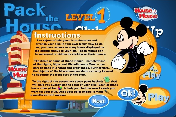 Play Mickey Mouse Club Dress Up