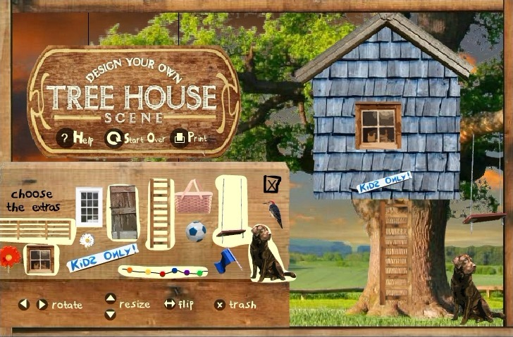 Tree House Creator Game