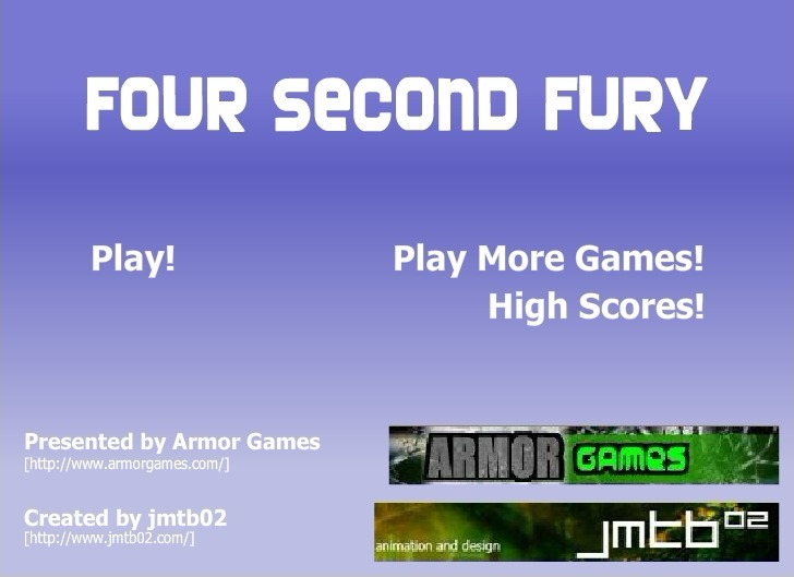 Play 4 Second Fury Game Full Screen