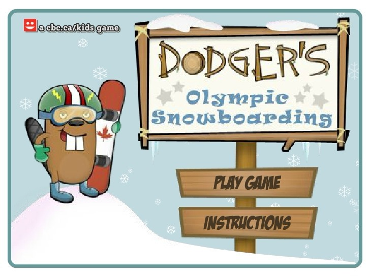 Play Dodger's Olympic Snowboarding Game Full Screen