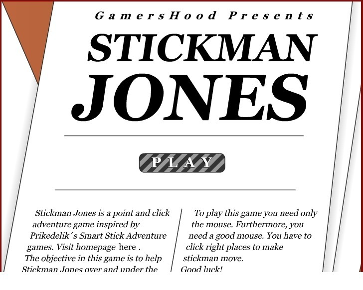 Play Stickman Jones Game Full Screen