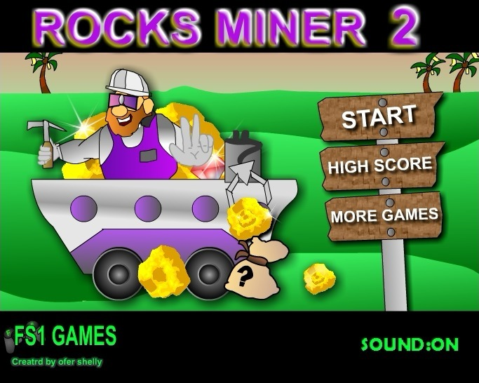 Play Rocks Miner 2 Game Full Screen