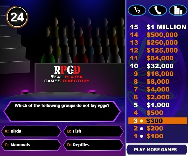 Who wants to be a Millionaire Full Screen