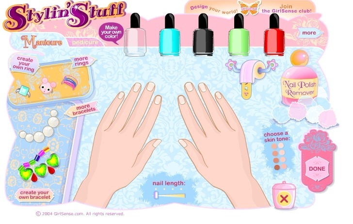 Play Nail Art Salon Game Full Screen