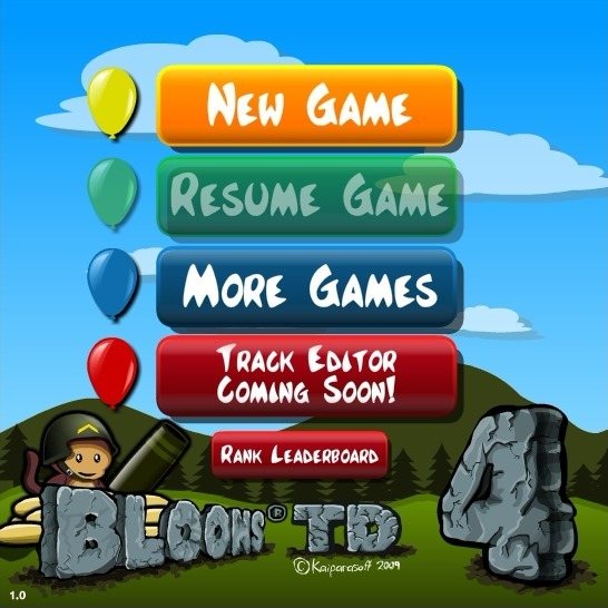 Play Bloons Tower Defense 4 Game Full Screen