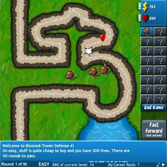 Bloons Tower Defense 4 Full Screen