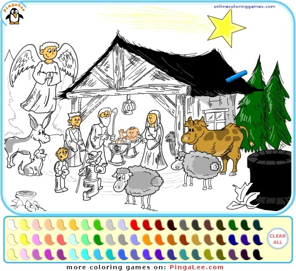Play Nativity Scene Coloring
