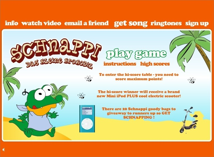 Play Schnappi Game Full Screen