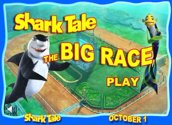 Play Shark Tale The Big Race Game Full Screen