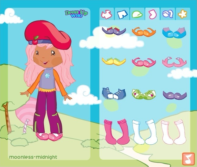 Strawberry Shortcake Dress Up Game