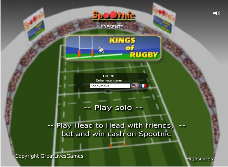 Play Kings of Rugby Game Full Screen