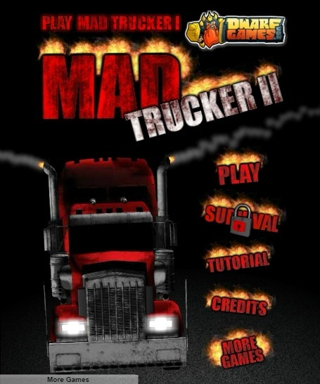Play Mad Trucker 2 Game Full Screen