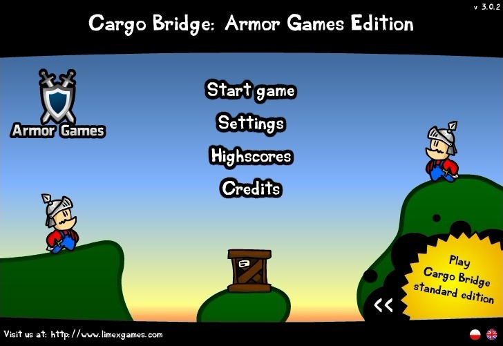 Play Cargo Bridge: Armor Games Edition Game Full Screen