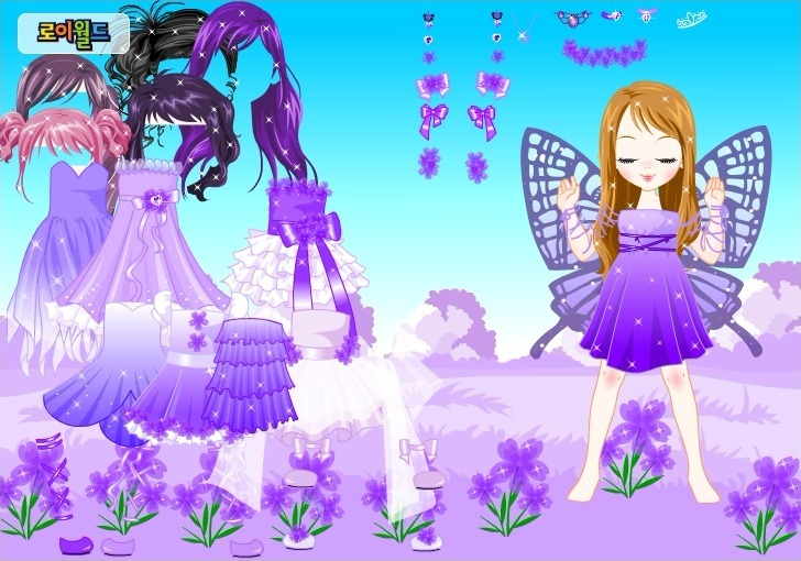 Play Purple Butterfly Dress up