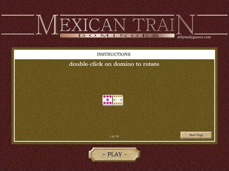 Play Mexican Train Dominoes Game Full Screen