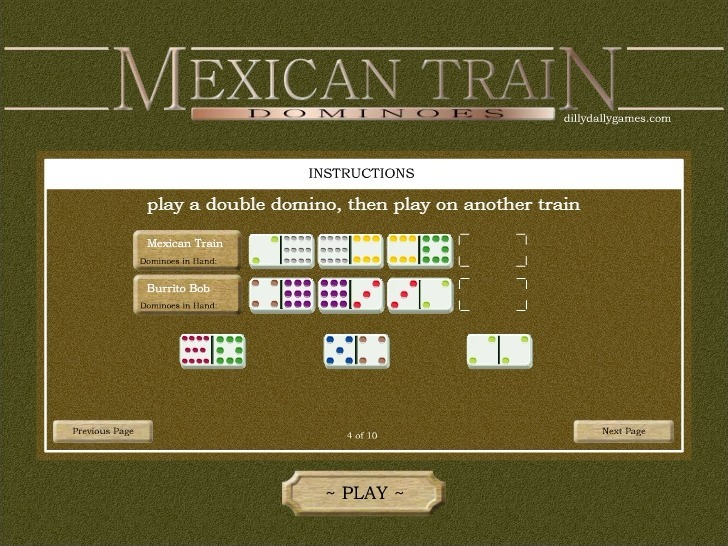 Mexican Train Dominoes Full Screen