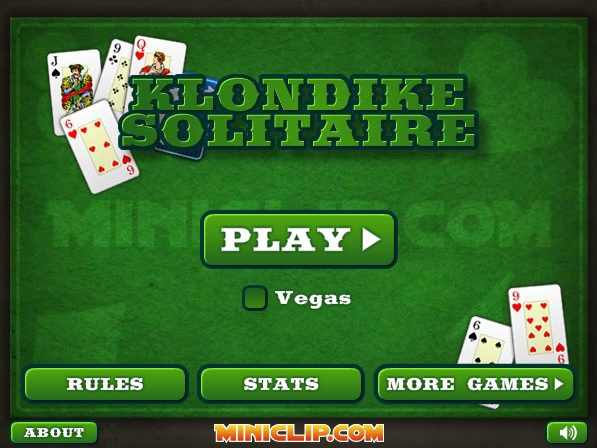 Play Klondike Solitaire Game Full Screen