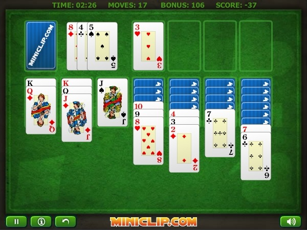 Klondike Solitaire Full Screen