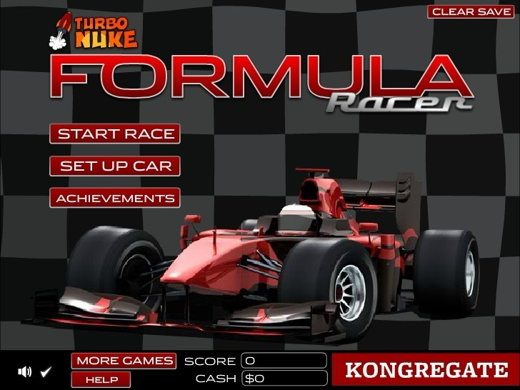 Play Formula Racer Game Full Screen