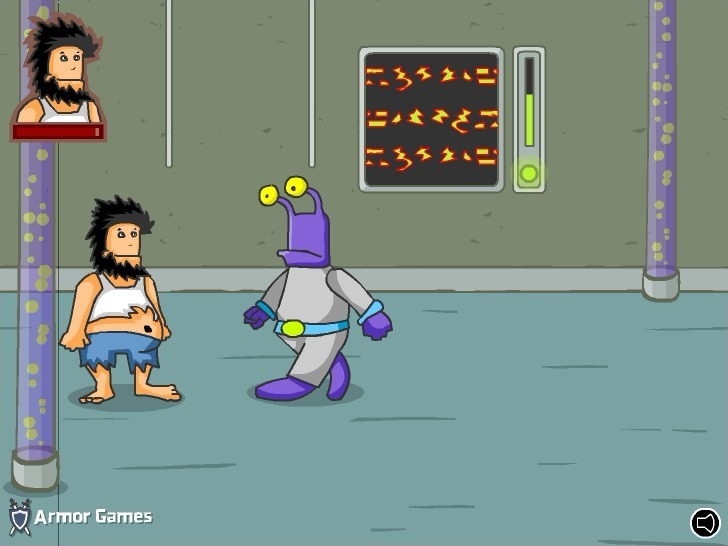 Play Hobo 5 Space Brawls: Attack of the Hobo Clones
