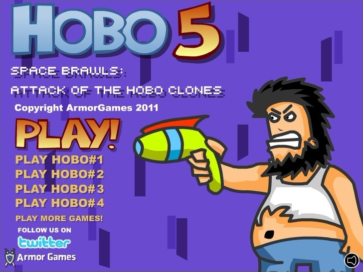 Play Hobo 5 Space Brawls: Attack of the Hobo Clones Game Full Screen