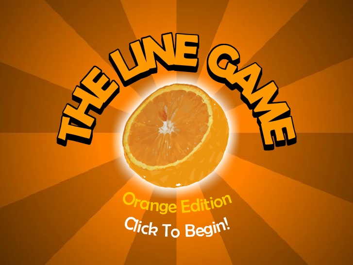 Play The Line Game: Orange Edition Game Full Screen