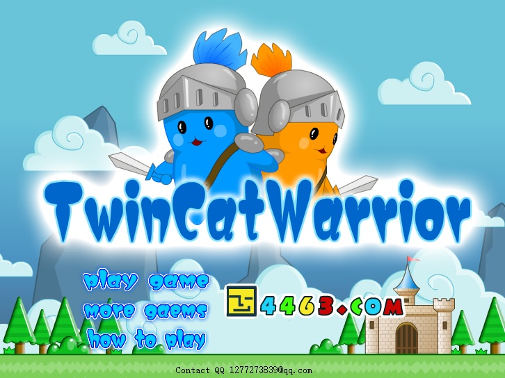 Play Twin Cat Warrior (level select version) Game Full Screen