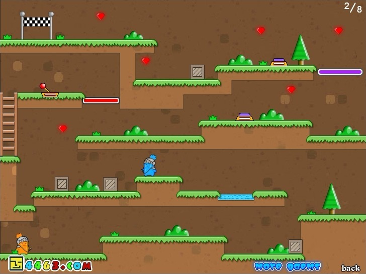 Twin Cat Warrior (level select version) Full Screen