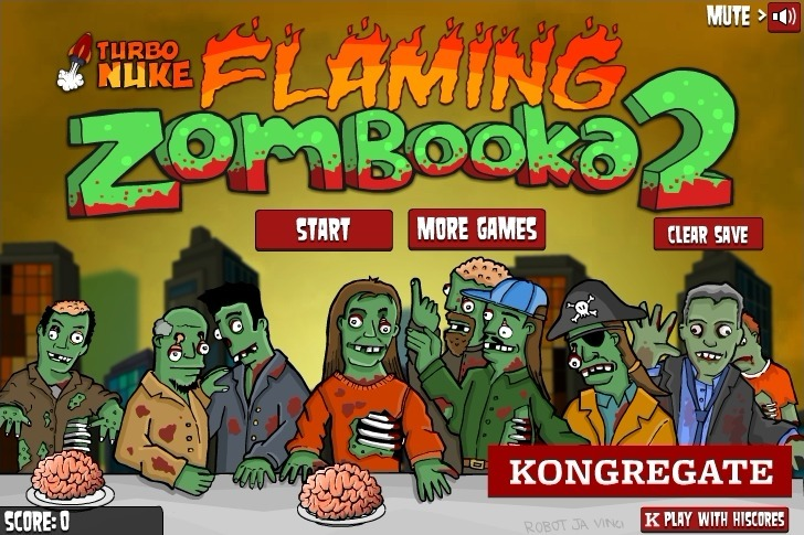 Play Flaming Zombooka 2 Game Full Screen