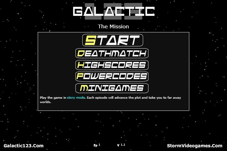 Play Galactic 123 The Mission Game Full Screen