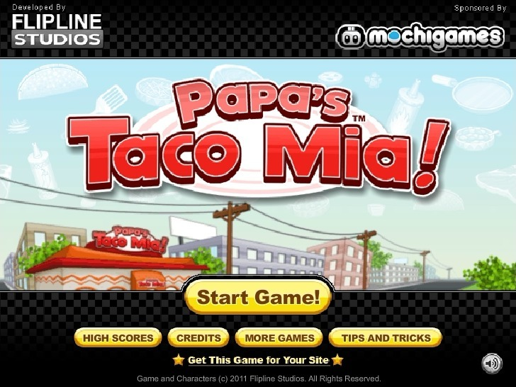 Play Papa's Taco Mia! Game Full Screen