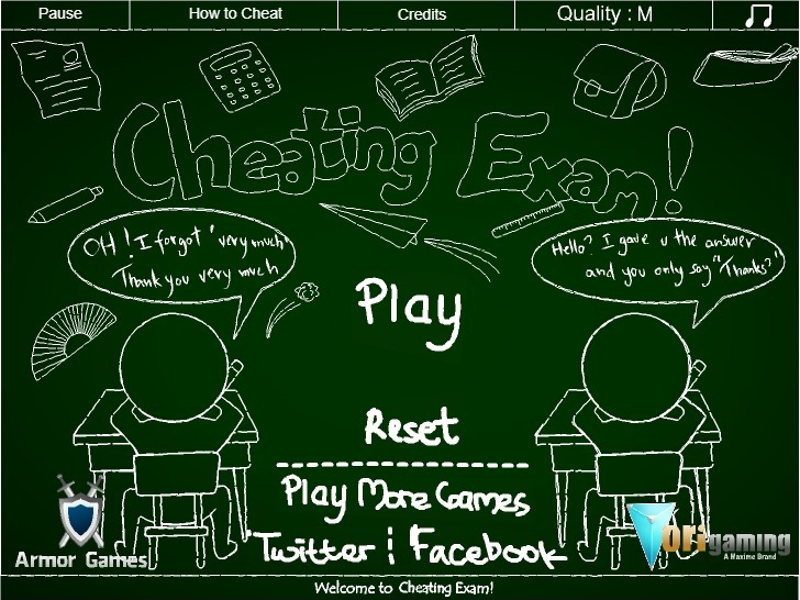 Play Cheating Exam Game Full Screen