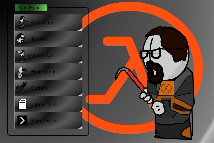Play Madness interactive: Half Life Game Full Screen