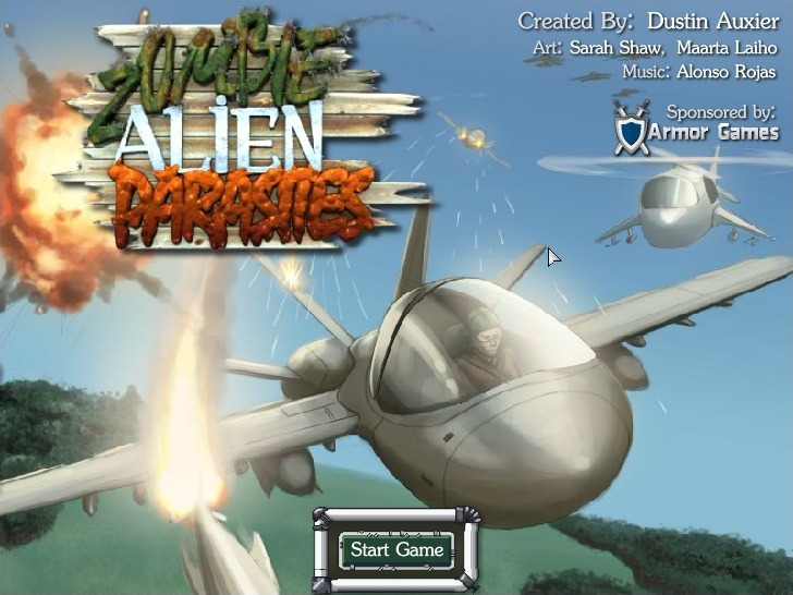 Play Zombie Alien Parasites Game Full Screen