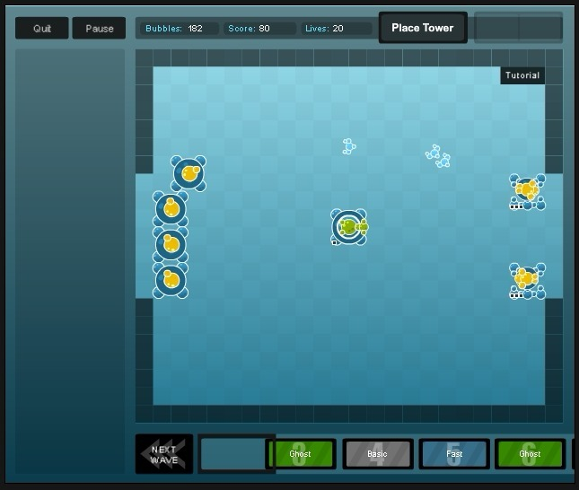Bubble Tanks Tower Defense Full Screen