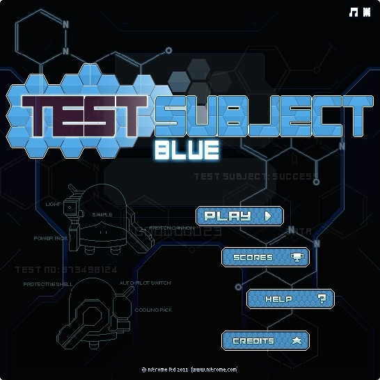 Play Test Subject Blue Game Full Screen