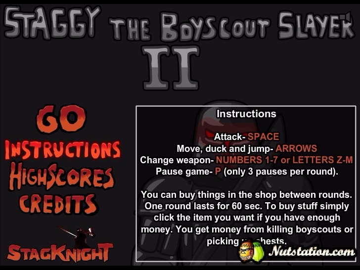 Play Staggy the Boy Scout Slayer II